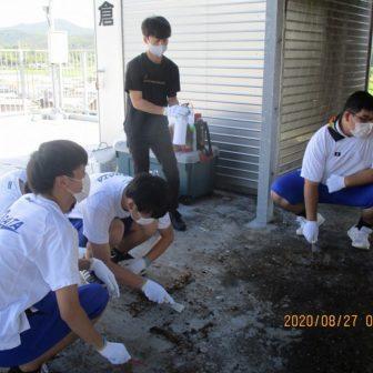 近隣地区の避難タワーの清掃