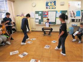 令和元年度 中学部「総合的な学習の時間」 防災カルタでの津波からの避難についての学習