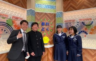 NHKで通学路点検と防災常時携帯品紹介